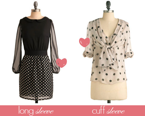 Long-Sleeve-and-Cuff-Sleeve-Polka-Dot
