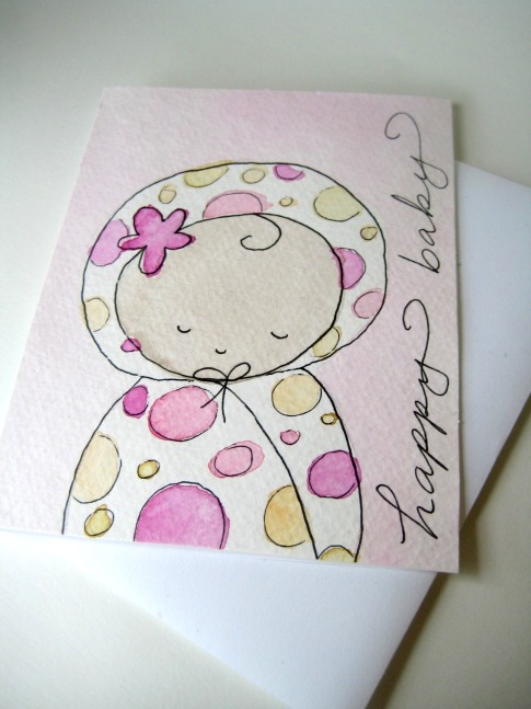 Baby-Girl-Notecard-Watercolor-Happy-Day-Studio