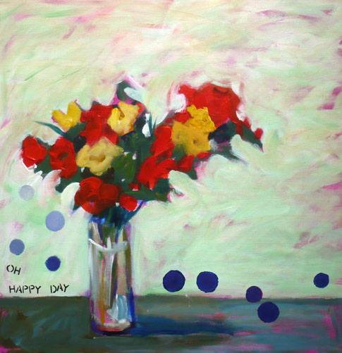 Polka-Dot-Flower-Painting-Pamelam