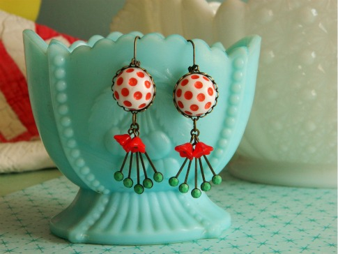 Vintage-Red-Dot-Earrings-PassingLoveNotes-Etsy